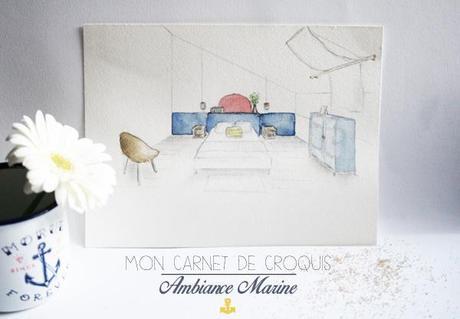 Carnet Croquis Chambre Lambiance Marine L E5xuep