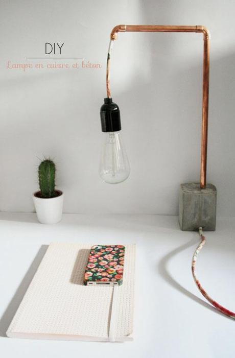 Diyourself Lampe Cuivre Beton L C3rpas