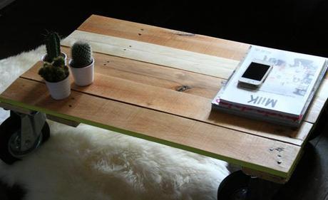 Diyourself Table Basse Bois Palette L Eiwjul